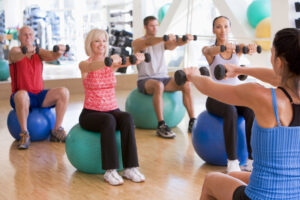 Chair Fitness Exercise Ball